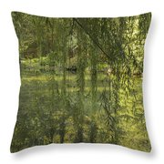 Peeking Through The Willows Throw Pillow