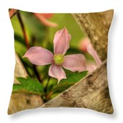 Peeking Throuigh Throw Pillow