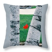 Peeking Tulip Throw Pillow