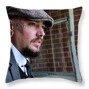 Peeky Blinder Throw Pillow
