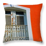 Peel An Orange Throw Pillow