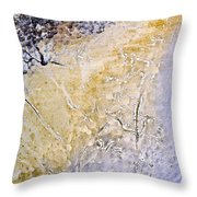 Peeling Paint And Pastels Throw Pillow