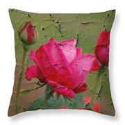 Peeling Rose Throw Pillow