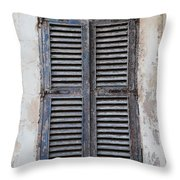 Peeling Shutters Throw Pillow