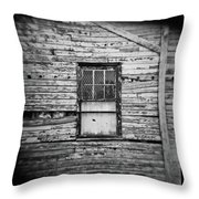 Peeling Wall And Cool Window At Fort Delaware On Film Throw Pillow