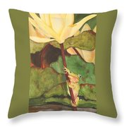 Peeping Tom Throw Pillow