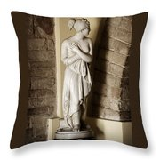 Peering Woman Throw Pillow