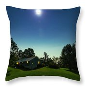 Pegasus And Moon Over The Shenandoah Valley Throw Pillow