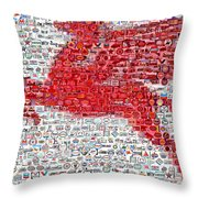 Pegasus Mosaic Throw Pillow