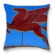 Pegasus Oil Sign Throw Pillow