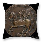 Pegasus Soaring Above Parnassus [reverse] Throw Pillow