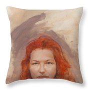 Peggy Is Fire Throw Pillow