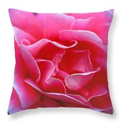 Peggy Lee Rose Bridal Pink Throw Pillow