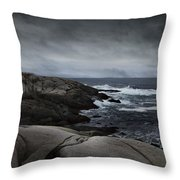 Peggys Cove Impending Storm Throw Pillow