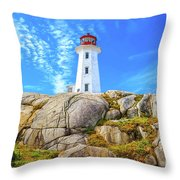 Peggy's Cove Light House Throw Pillow