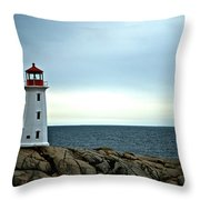Peggy's Cove Lighthouse - Photographers Collection Throw Pillow