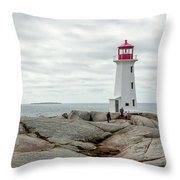Peggys Cove Lighthouse 2 Throw Pillow