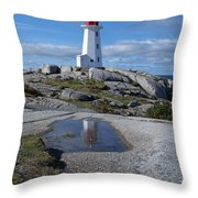 Peggys Cove Nova Scotia Canada Throw Pillow