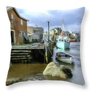 Peggys Cove Ns 001 Throw Pillow