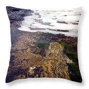 Peggy's Cove Surf Splash Throw Pillow