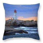 Peggy's Point Lighthouse, Nova Scotia, Canada Throw Pillow