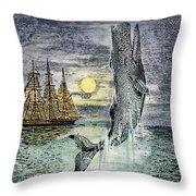 Pehe Nu-e: Moby Dick Throw Pillow