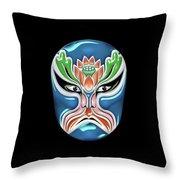 Peking Opera Face-paint Masks - Zhongli Chun Throw Pillow
