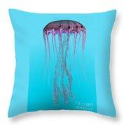Pelagia Noctiluca Jellyfish Throw Pillow