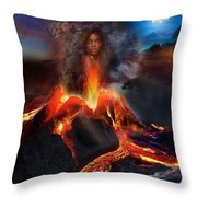 Pele - Volcano Goddess Throw Pillow