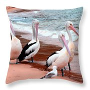 Pelican 5.0 Pearl Beach Throw Pillow