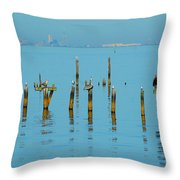 Pelican And Mobile Throw Pillow