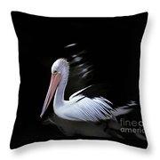 Pelican At Dusk Throw Pillow