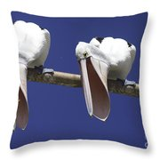 Pelican Burp Throw Pillow