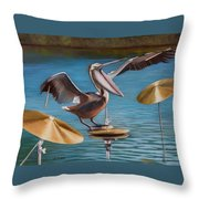 Pelican Crash Throw Pillow