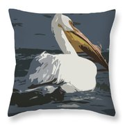 Pelican Cut Out Throw Pillow