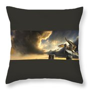 Pelican Evening Throw Pillow