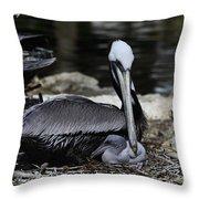 Pelican Hug Throw Pillow