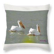 Pelican In Colorado Throw Pillow