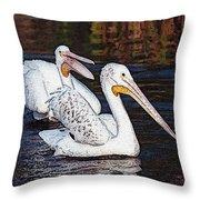 Pelican Love Throw Pillow