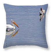 Pelican Mates Throw Pillow
