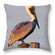 Pelican Perch Throw Pillow