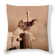 Pelican Perch Throw Pillow