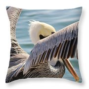 Pelican Playing Hide And Seek Throw Pillow