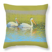 Pelican Plus One Throw Pillow