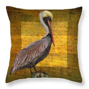 Pelican Poetry Throw Pillow