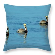 Pelican Racers Throw Pillow