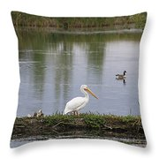 Pelican Reflection Throw Pillow