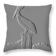 Pelican Stoop Throw Pillow