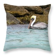Pelican Trolling Throw Pillow