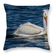 Pelican Wake Throw Pillow